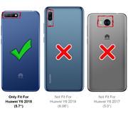 Silikon Hülle für Huawei Y6 2018 Schutzhülle Matt Schwarz Backcover Handy Case