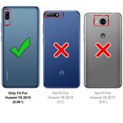Silikon Hülle für Huawei Y6 2019 Schutzhülle Matt Schwarz Backcover Handy Case