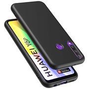 Silikon Hülle für Huawei Y6p Schutzhülle Matt Schwarz Backcover Handy Case