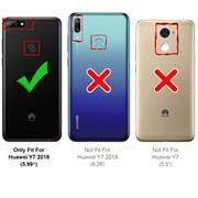 Silikon Hülle für Huawei Y7 2018 Schutzhülle Matt Schwarz Backcover Handy Case