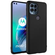 Silikon Hülle für Motorola Moto G100 Schutzhülle Matt Schwarz Backcover Handy Case
