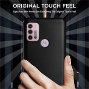 Silikon Hülle für Motorola Moto G30 / G10 Schutzhülle Matt Schwarz Backcover Handy Case