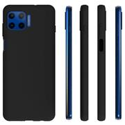 Silikon Hülle für Motorola Moto G 5G Plus Schutzhülle Matt Schwarz Backcover Handy Case