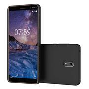 Silikon Hülle für Nokia 2 Schutzhülle Matt Schwarz Backcover Handy Case