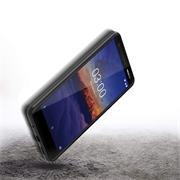 Silikon Hülle für Nokia 3.1 Schutzhülle Matt Schwarz Backcover Handy Case