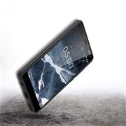 Silikon Hülle für Nokia 5.1 Schutzhülle Matt Schwarz Backcover Handy Case
