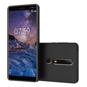 Silikon Hülle für Nokia 6.1 Schutzhülle Matt Schwarz Backcover Handy Case