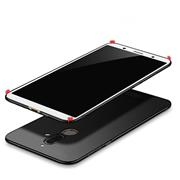 Silikon Hülle für Nokia 7 Plus Schutzhülle Matt Schwarz Backcover Handy Case
