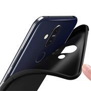 Matte Silikon Hülle für Nokia 8.1 Backcover Handy Case