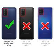 Silikon Hülle für Samsung Galaxy A03s Schutzhülle Matt Schwarz Backcover Handy Case