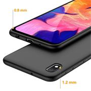 Matte Silikon Hülle für Samsung Galaxy A10 Backcover Handy Case