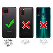 Silikon Hülle für Samsung Galaxy A12 Schutzhülle Matt Schwarz Backcover Handy Case