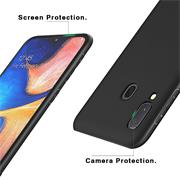 Silikon Hülle für Samsung Galaxy A20e Schutzhülle Matt Schwarz Backcover Handy Case