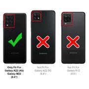 Silikon Hülle für Samsung Galaxy A22 4G / M22 Schutzhülle Matt Schwarz Backcover Handy Case