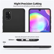 Silikon Hülle für Samsung Galaxy A31 Schutzhülle Matt Schwarz Backcover Handy Case