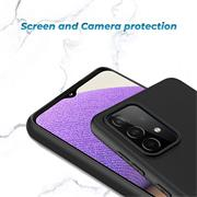 Silikon Hülle für Samsung Galaxy A32 5G Schutzhülle Matt Schwarz Backcover Handy Case