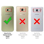Silikon Hülle für Samsung Galaxy A3 2017 Schutzhülle Matt Schwarz Backcover Handy Case