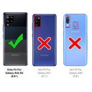 Silikon Hülle für Samsung Galaxy A42 5G Schutzhülle Matt Schwarz Backcover Handy Case