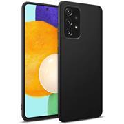 Silikon Hülle für Samsung Galaxy A52 / A52 5G / A52s 5G Schutzhülle Matt Schwarz Backcover Handy Case
