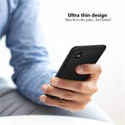 Silikon Hülle für Samsung Galaxy A71 Schutzhülle Matt Schwarz Backcover Handy Case