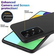 Silikon Hülle für Samsung Galaxy A72 Schutzhülle Matt Schwarz Backcover Handy Case