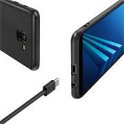 Silikon Hülle für Samsung Galaxy A8 Plus Schutzhülle Matt Schwarz Backcover Handy Case