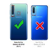 Silikon Hülle für Samsung Galaxy A9 2018 Schutzhülle Matt Schwarz Backcover Handy Case