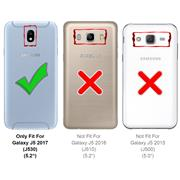 Silikon Hülle für Samsung Galaxy J7 2017 Schutzhülle Matt Schwarz Backcover Handy Case