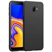 Silikon Hülle für Samsung Galaxy J6 Plus Schutzhülle im schlichten Schwarz Slim Handy Case