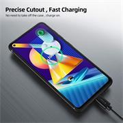 Silikon Hülle für Samsung Galaxy M11 Schutzhülle Matt Schwarz Backcover Handy Case
