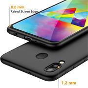 Silikon Hülle für Samsung Galaxy M20 Matt Schwarz Backcover Handy Case