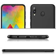 Silikon Hülle für Samsung Galaxy M20 Schutzhülle Matt Schwarz Backcover Handy Case