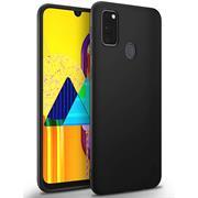 Silikon Hülle für Samsung Galaxy M30s / M21 Schutzhülle Matt Schwarz Backcover Handy Case