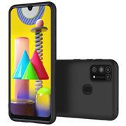 Silikon Hülle für Samsung Galaxy M31 Schutzhülle Matt Schwarz Backcover Handy Case