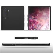 Silikon Hülle für Samsung Galaxy Note 10 Matt Schwarz Backcover Handy Case