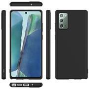 Silikon Hülle für Samsung Galaxy Note 20 Schutzhülle Matt Schwarz Backcover Handy Case