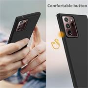 Silikon Hülle für Samsung Galaxy Note 20 Ultra Schutzhülle Matt Schwarz Backcover Handy Case