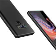 Silikon Hülle für Samsung Galaxy Note 9 Schutzhülle im schlichten Schwarz Slim Handy Case