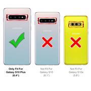 Silikon Hülle für Samsung Galaxy S10 Plus Schutzhülle Matt Schwarz Backcover Handy Case