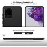 Silikon Hülle für Samsung Galaxy S20 Ultra Schutzhülle Matt Schwarz Backcover Handy Case