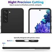 Silikon Hülle für Samsung Galaxy S21 Plus Schutzhülle Matt Schwarz Backcover Handy Case