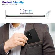 Silikon Hülle für Samsung Galaxy S21 Ultra Schutzhülle Matt Schwarz Backcover Handy Case