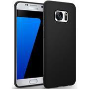 Silikon Hülle für Samsung Galaxy S7 Edge Schutzhülle im schlichten Schwarz Slim Handy Case