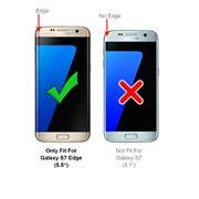 Silikon Hülle für Samsung Galaxy S7 Edge Schutzhülle Matt Schwarz Backcover Handy Case