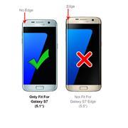 Silikon Hülle für Samsung Galaxy S7 Schutzhülle Matt Schwarz Backcover Handy Case