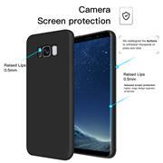 Silikon Hülle für Samsung Galaxy S8 Plus Schutzhülle im schlichten Schwarz Slim Handy Case