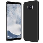 Silikon Hülle für Samsung Galaxy S8 Schutzhülle Matt Schwarz Backcover Handy Case