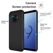 Matte Silikon Hülle für Samsung Galaxy S9 Plus Backcover Handy Case