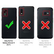 Silikon Hülle für Samsung Galaxy XCover 5 Schutzhülle Matt Schwarz Backcover Handy Case