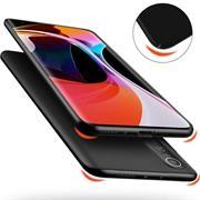 Silikon Hülle für Xiaomi Mi 10 Pro Schutzhülle Matt Schwarz Backcover Handy Case
